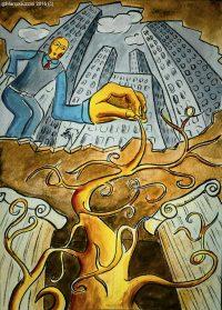 illustrazione radici profonde root racconti illustrati