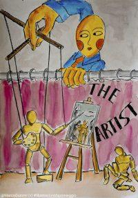 illustrazione da passeggio artista