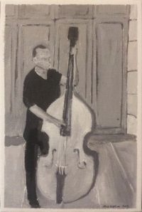 jazz bass pittura marco guzzini