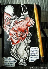 Sketchbook - Yoshitoshi - Il suonatore di flauto