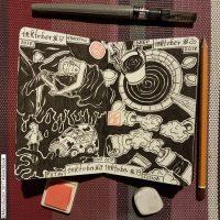 sketch inchiostro inktober 2017