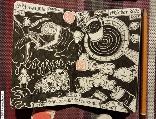Inktober 2017 : il mio sketchbook