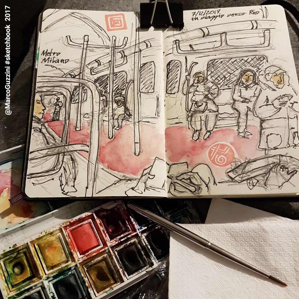 sketch metro milano - ultime storie illustrate dal mio taccuino