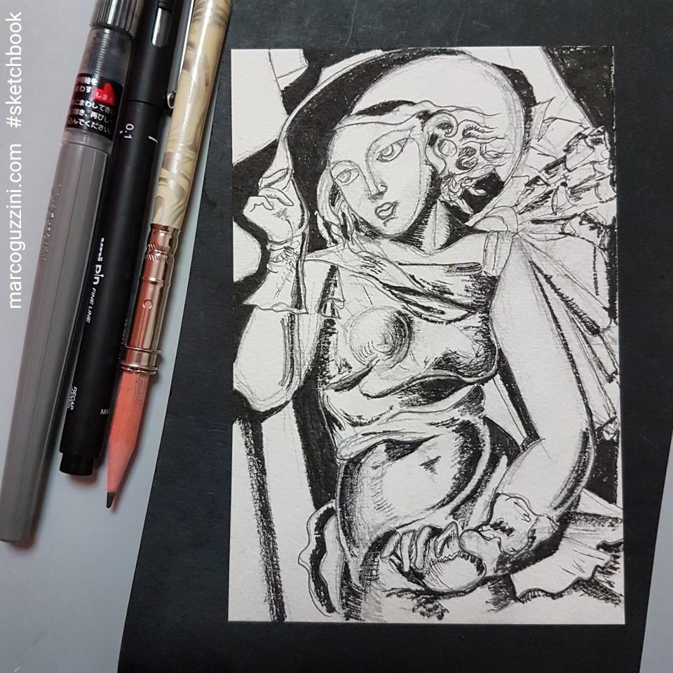 sketchbook esercizio con i grandi artisti