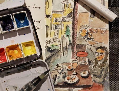 Mostra, aperitivo e sketchbook a Brescia