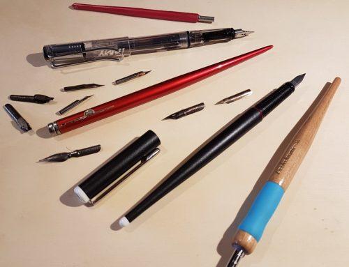 Disegnare con l'inchiostro : penne, pennelli e pennini #dalmioastuccio